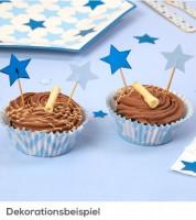 """Cupcake-Picks """"Little Star Blue"""" - 20 Stück"""