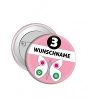 """Dein Button """"Schmetterling"""" - Wunschtext"""