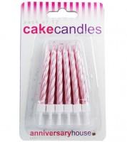 Kuchenkerzen - perlmutt-rosa - 12 Stück