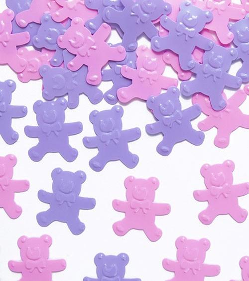 "Streukonfetti ""Teddybär"" - rosa/lavendel - 15 g"