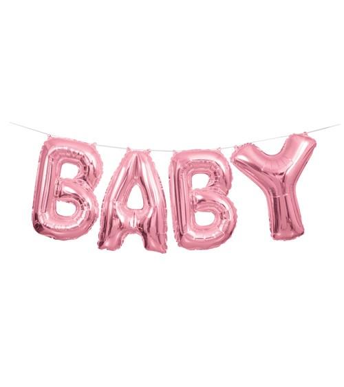 "Folienballon-Set ""BABY"" - rosa - 36 cm"