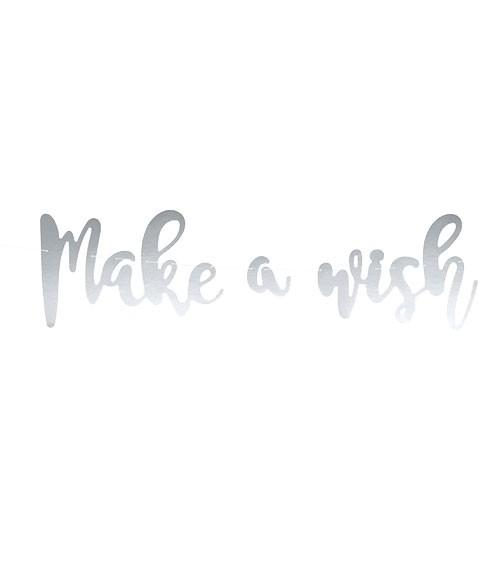 """Schriftzuggirlande """"Make a wish"""" - 4-teilig"""
