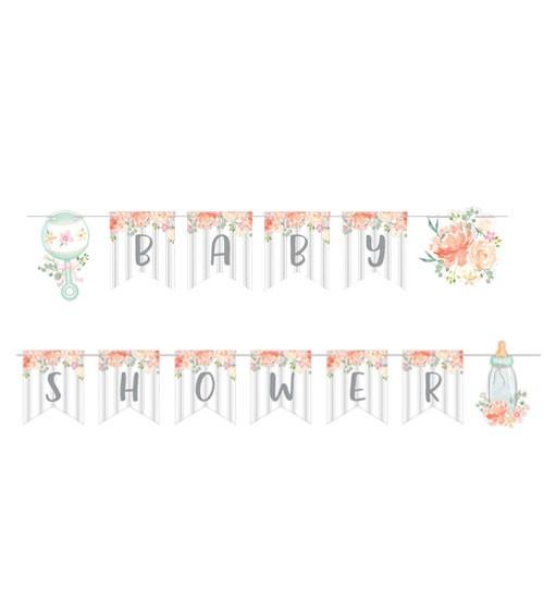 "Baby Shower Girlande ""Floral Baby"" - 2,4 m"