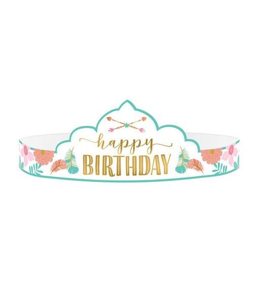 """Tiaras aus Papier """"Boho Birthday Girl"""" - 8 Stück"""