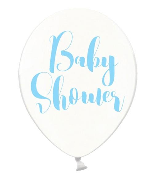 """Luftballons """"Baby Shower"""" - kristall/himmelblau - 50 Stück"""