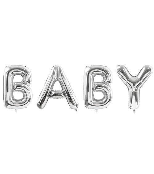 "XL-Folienballon-Set ""Baby"" - silber - 262 x 86 cm"