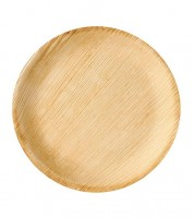 "Palmblatt-Teller ""Pure"" - rund - 23 cm - 6 Stück"