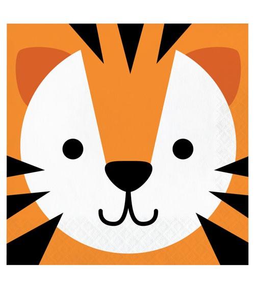 "Servietten ""Animal Faces"" - Tiger - 16 Stück"