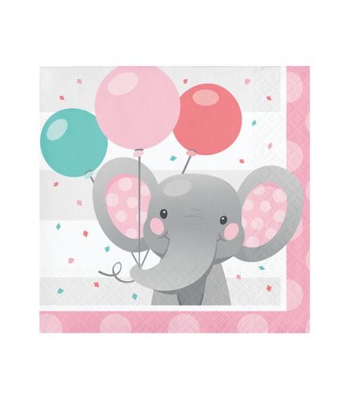 """Cocktail-Servietten """"Little Elephant - Girl"""" - 16 Stück"""