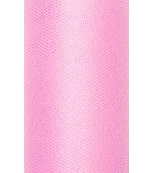 Tischläufer aus Tüll - rosa - 30 cm x 9 m