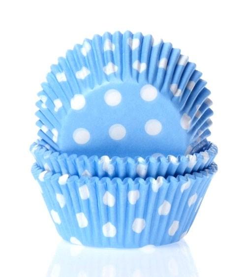 "50 Papierförmchen ""Big Dots"" - hellblau"