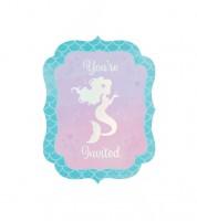 """Einladungskarten """"Mermaid Shine"""" - 8 Stück"""