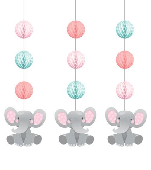 """3er-Motivgirlande """"Little Elephant - Girl"""""""