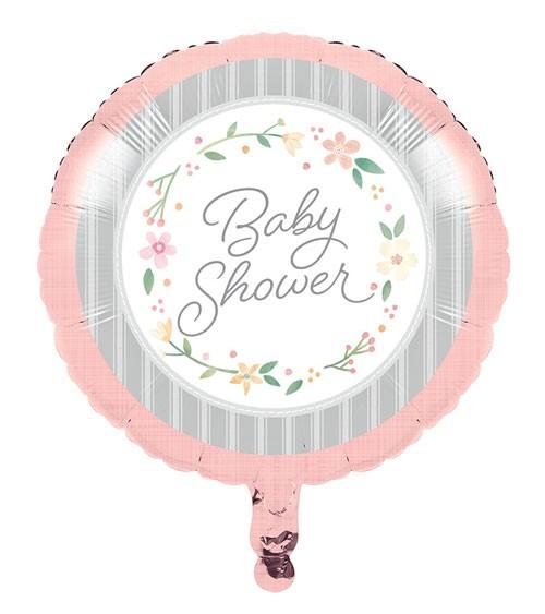 "Runder Folienballon ""Floral Baby"" - 45,7 cm"