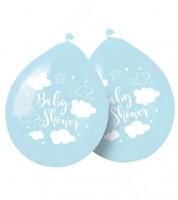 """Luftballons """"Wolken Baby Shower"""" - blau - 8 Stück"""