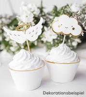 """Cupcake-Picks """"Wolken und Engelsflügel"""" - 6 Stück"""