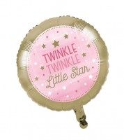 "Runder Folienballon ""One Little Star - Girl"""