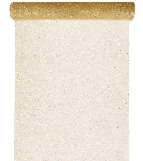 Tischläufer aus Tüll - glitter gold - 30 cm x 5 m