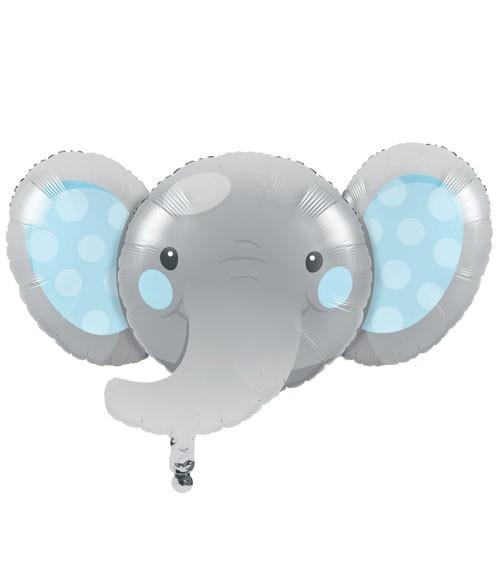 """SuperShape-Folienballon """"Little Elephant - Boy"""" - 93 x 62 cm"""