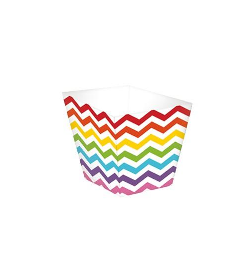 """Mini-Süßigkeitenboxen """"Chevron"""" - Regenbogen - 36 Stück"""