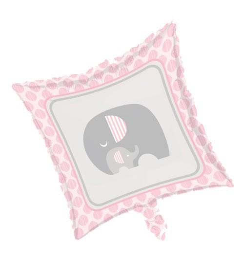 "Eckiger Folienballon ""Kleiner Elefant - rosa"""