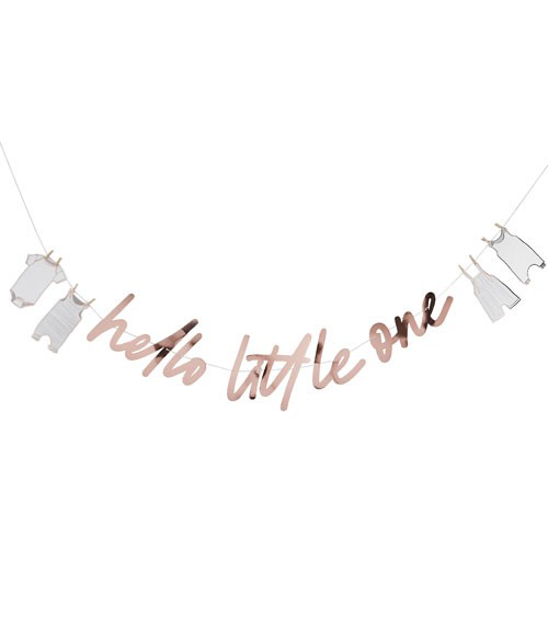 "DIY Schriftzug-Girlande ""Hello Little One"" - rosegold - 2 m"