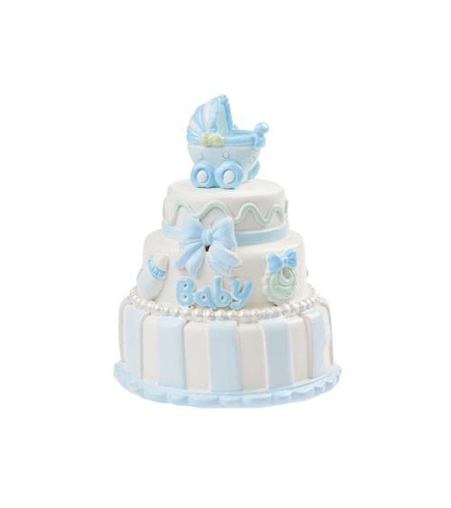 "Deko-Figur ""Baby Boy Torte"" - 6 cm"