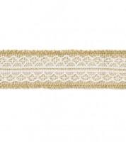 Jute-Band mit mittiger Spitze - 4 cm x 5 m