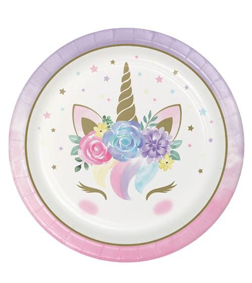 "Pappteller ""Unicorn"" - 8 Stück"