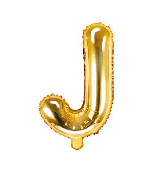 "Folienballon Buchstabe ""J"" - gold - 35 cm"