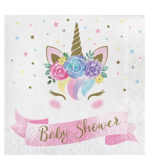 """Servietten """"Unicorn"""" - Baby Shower - 16 Stück"""