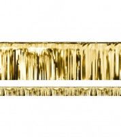 Metallic-Fransengirlande - gold - 18,5 cm x 4 m