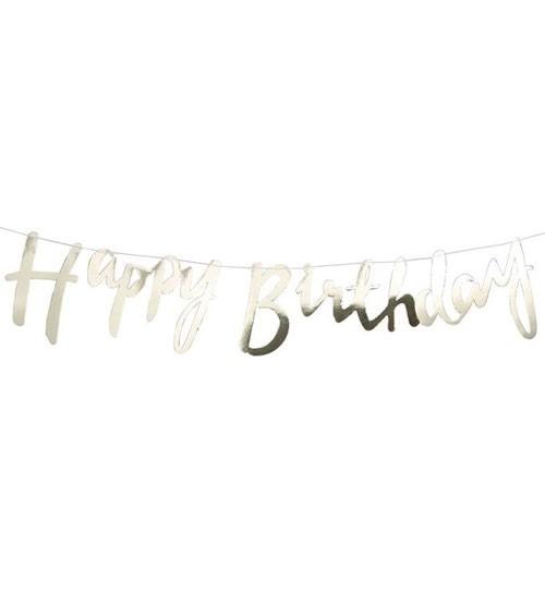 """Goldene """"Happy Birthday""""-Girlande - 1,5 m"""