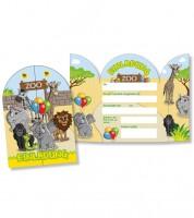 """Einladungskarten """"Zoo"""" - 8 Stück"""