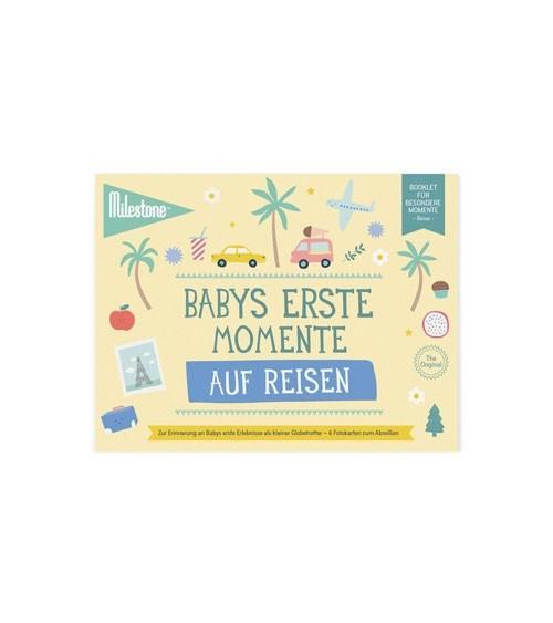 """Milestone Karten-Set """"Babys erste Momente auf Reisen"""" - 6-teilig"""