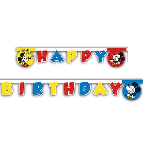 "Happy Birthday-Girlande ""Mickey Mouse Comic"""
