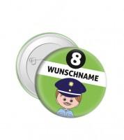 """Dein Button """"Polizist"""" - Wunschtext"""