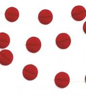Mini-Wabenball-Girlande - 2,13 m - rot