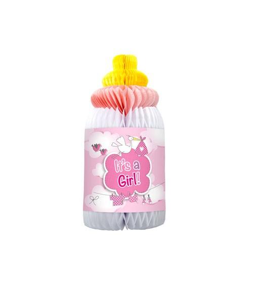 """Wabenaufsteller """"Babyflasche"""" - It's a Girl"""