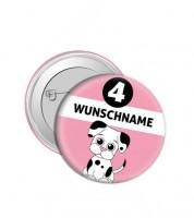 "Dein Button ""Hund"" - Wunschtext"