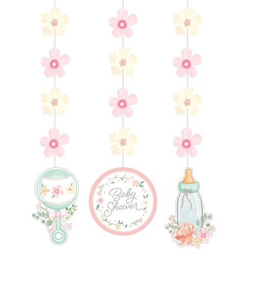 """3er-Motivgirlande """"Floral Baby"""""""