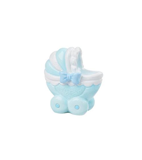 "Deko-Figur ""Baby Boy Kinderwagen"" - 3,5 cm"