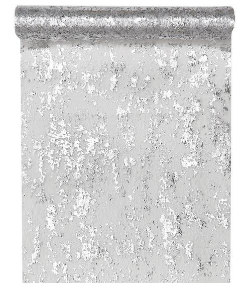 Tischläufer in Metallic-Netzoptik - silber - 28 cm x 5 m
