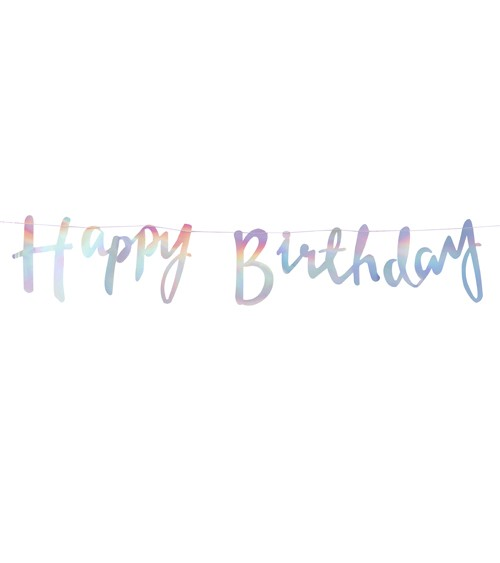 "Schimmernde ""Happy Birthday""-Girlande - 1,5 m"