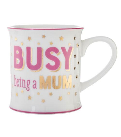 """Tasse aus Porzellan """"Busy being a Mum"""""""