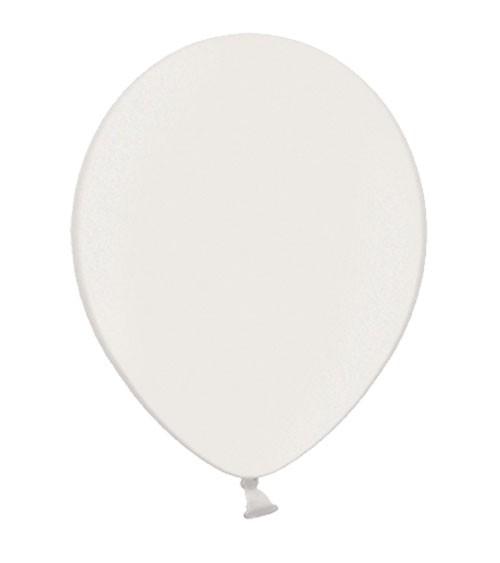 Metallic-Luftballons - weiß - 10 Stück
