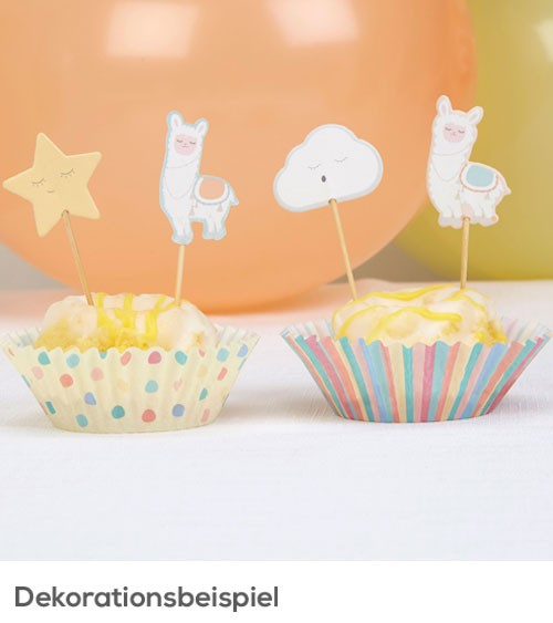 "Cupcake-Picks ""Lama Love"" - 20 Stück"