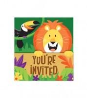 """Einladungskarten """"Dschungel Safari"""" - 8 Stück"""