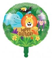 "Runder Folienballon ""Dschungel Safari"" - 45 cm"