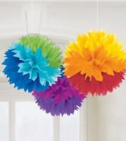 Pom Pom Set - Regenbogen - 3-teilig - 40 cm